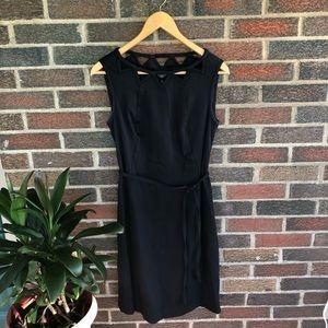 {Talbots} Black Dress with Geometric Neck! Size 6P